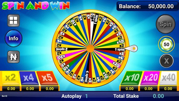 เกมSpin and win วงล้อมหาสนุก
